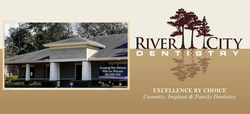 River City Dentistry 189 S Charles Richard Beall Blvd DeBary FL - 386-668-2181 Logo-m