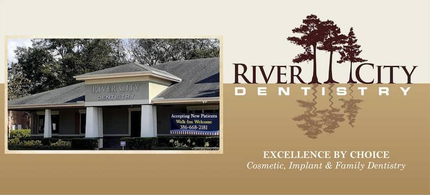 River City Dentistry 189 S Charles Richard Beall Blvd DeBary FL - 386-668-2181 Logo-m
