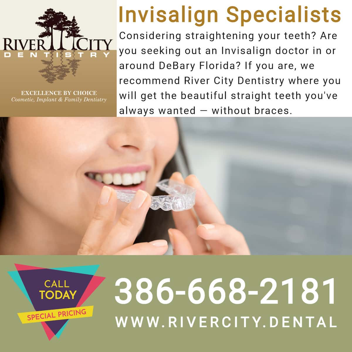 Invisalign Provider - River City Dentistry DeBary FL
